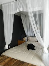 Homemade Bed Canopy Making Canopy Bed Curtains Curtain Menzilperdenet