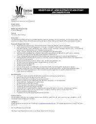 Administrative Assistant Job Duties Resume Nice Admin Assistant Job Duties Resume Ideas Entry Level Resume 18