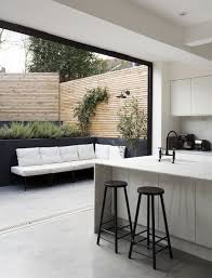 this is a great example of connecting a kitchen space with an outside courtyard lovely