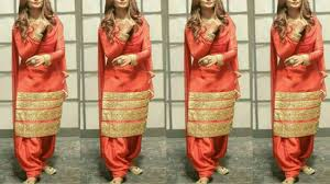 Plain Punjabi Suit With Lace Design Lace Design On Punjabi Suit Plain Suit With Lace Design