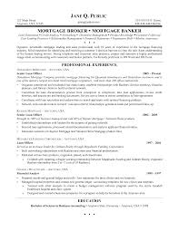 Mortgage Broker Resume Template Cooperative Pictures Ideas Of 25