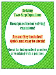 this worksheet is great for practice on solving two step equations students will solve