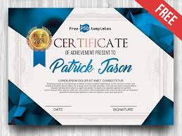 Sample Certificates Templates Free Certificate Template In Psd By Mockupfree Dribbble Dribbble