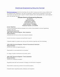 Certified Electrical Engineer Sample Resume Sample Of Resume For Electrical Engineer Lovely Certified Electrical 9