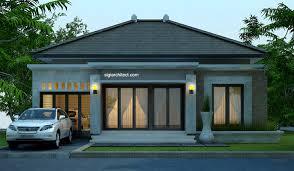 desain rumah bali modern model rumah 4 tampak model rumah