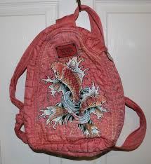 Don Ed Hardy Designs Bag Details About Don Ed Hardy Koi Fish Mini Backpack Bag Peach