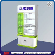 Free Standing Display Cabinets TSDW100 Custom Retail Store Free Standing Camera Display Cabinets 99