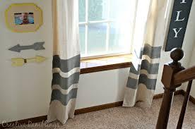Paint Drop Cloth Curtains Painted Drop Cloth Curtains Creative Ramblings