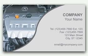 Business Cards For Acura Service Centers