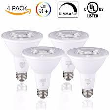 Par30 Warm White Led Flood Light E26 Bulbs Led 12w 100 Watt Equivalent Dimmable 3000k Warm