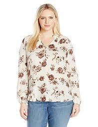 Blu Pepper Size Chart Blu Pepper Womens Plus Size Floral Printed Long Sleeve