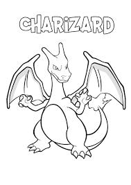 Disegno Di Charizard Da Colorare Gratis Pokemon