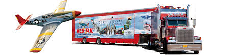 rise above traveling exhibit caf red tail squadron trailer