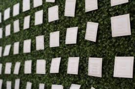 Wedding Planner Wall Chart Ivy Wall Escort Card Display Wedding Seating Chart Ideas
