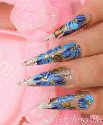 Nail Design Květiny Akrylové Barvy Jak Se Naučit Malovat Na Nehty