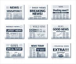 Extra Extra Newspaper Template Newspaper Headline Template 12 Free Word Ppt Psd Eps