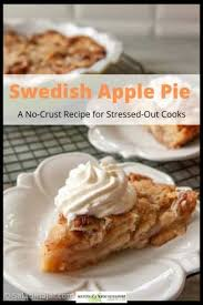 — apple pie from scratch. Afraid Of Piecrusts Try This Apple Pie With No Crust Apples Are Covered With A Tasty Cinnamon Sp Swedish Apple Pie Crustless Apple Pie Recipe Apple Recipes