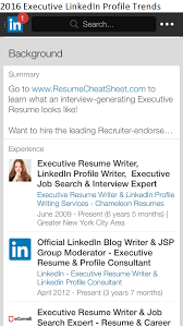 executive linkedin profile trends  lisa rangel linkedin profile mobile