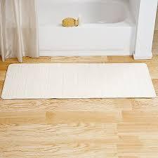 lavish home memory foam striped extra long bath mat 24 by 60
