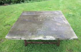 stone table tops. Showing The Lovely Weathering And Patination Of Antique York Stone Table Top On Cast Tops