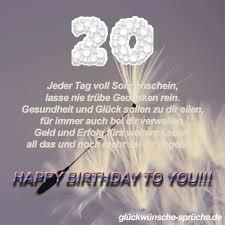 Glückwünsche Zum 20 Geburtstag Lustige Kurze Wünsche Für Karten
