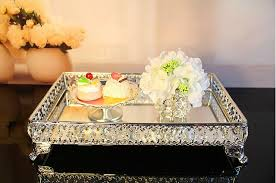 Decorative Bowls And Trays 100100cm rectangle decorative crystal tray serving tray glass fruit 21