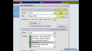 tus notes lotus notes 8 5 1 how to create a lotus notes mail database