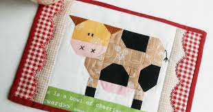 The Patchsmith: Patchwork Cow Mug Rug and Daisy Cow Blocks &  Adamdwight.com