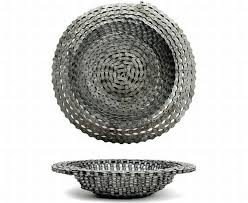 recycled bicycle chain bowl made by resource revival cog