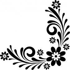 Design Black And White Art Library Of Black And White Flower Design Jpg Black And White