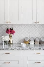 Elegant grey kitchen backsplash ideas inspiration Cabinets Elegant White Arabesque Ceramic Tile Backsplash Wayfair 70 Stunning Kitchen Backsplash Ideas For Creative Juice