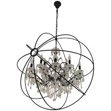 viyet designer furniture lighting restoration hardware foucault orb clear crystal chandelier