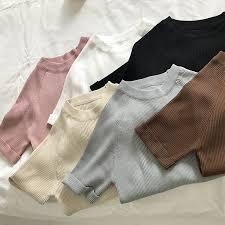 Cocoa-<b>Pure</b> Korean spring ladies sweater slim short sleeved t ...