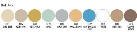 Deck Kote Acrylic Waterbase Deck Paint Standard Colors
