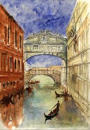 venice painting venice c bridge of sighs by juan bosco