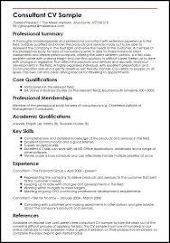 It Consultant Resume Sample Consultant Cv Sample Myperfectcv