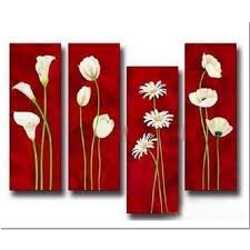 acrylic abstract painting 4 pieces canvas sets modern wall art 36 48 inches huge 0015 4canset15 1
