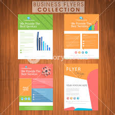 Presentation Flyers Set Of Colorful Business Flyers Presentation With Web Icons