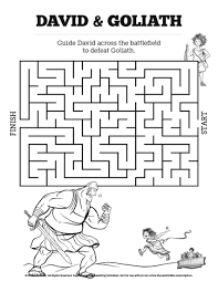 Download Christian Coloring Pages David And Goliath Getwallpapersus