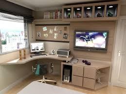 home office bedroom. Home Office (móveis Pretos Com Partes Amarelas) Parede Cinza Bedroom