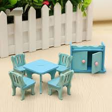 doll house furniture sets. Wooden Dollhouse Furniture Doll House Miniature Dinning Room Set Kids Role Play Toy Kit Sets T
