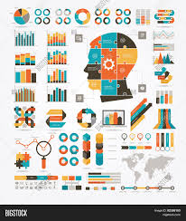 Vector Graphs And Charts Set Graphs Charts Vector Photo Free Trial Bigstock