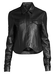 rta leather point jacket black night womens tops shirts blouses
