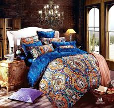 full image for luxury bed quilt covers egyptian cotton luxury boho bedding sets king queen size