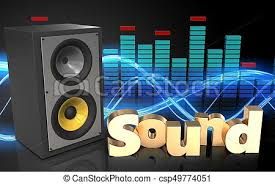 sound system clipart. 3d spectrum sound system - csp49774051 clipart
