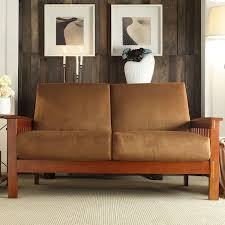 Hills Mission-Style Oak Loveseat by iNSPIRE Q Classic - Free Shipping Today  - Overstock.com - 11947579