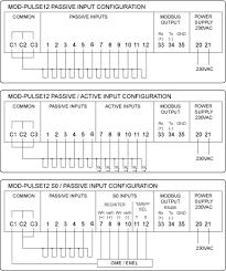 modbus pulse counter 12 inputs 230v mod pulse12 modbus meter pulse input module wiring