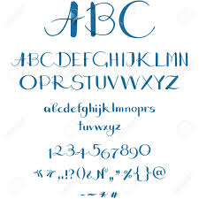 Calligraphic Font Royalty Free Cliparts Vectors And Stock