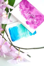 Watercolor thank you cards Vector Diy Watercolor Thank You Cards Designsponge Diy Watercolor Thank You Cards Designsponge