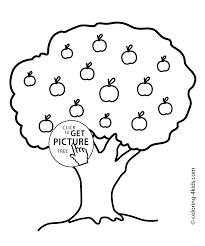 Small Picture apple tree coloring page for kids printable free